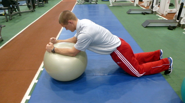 core work on balance ball