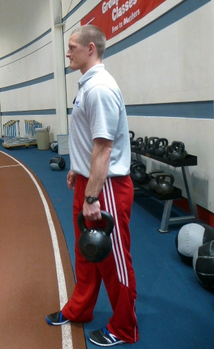 core work with kettlebell