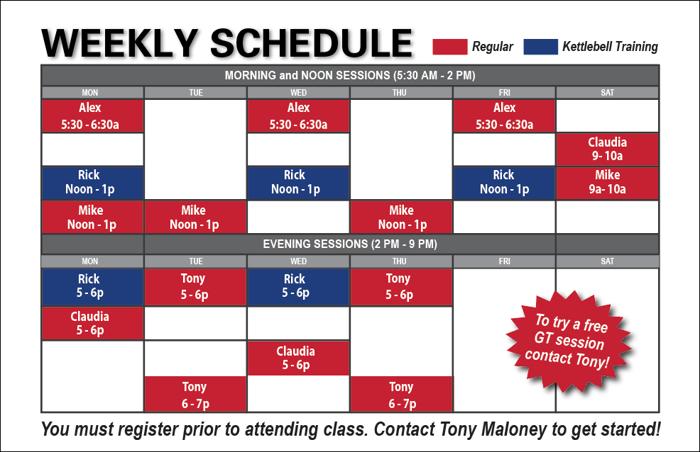 GT schedule SS